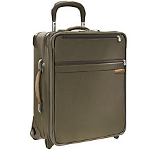 "Buy Briggs & Riley 20"" Wide-Body Expandable Upright Cabin Bag, Olive Online at johnlewis.com"