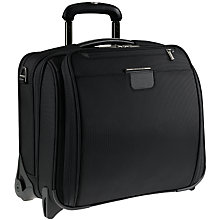 Buy Briggs & Riley 15.4'' Laptop Slim 2-Wheel Briefcase, Black Online at johnlewis.com