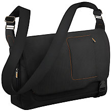 "Buy Briggs & Riley Go 15"" Laptop Messenger Bag, Black Online at johnlewis.com"