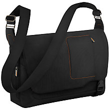 "Buy Briggs & Riley Expandable 17"" Laptop Messenger Bag, Black Online at johnlewis.com"