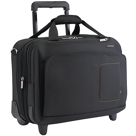 "Buy Briggs & Riley Expandable 2-Wheel 15"" Laptop Briefcase, Black Online at johnlewis.com"