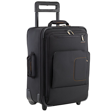 "Buy Briggs & Riley 17"" 2-Wheel Cabin Laptop Sleeve Suitcase, Black Online at johnlewis.com"