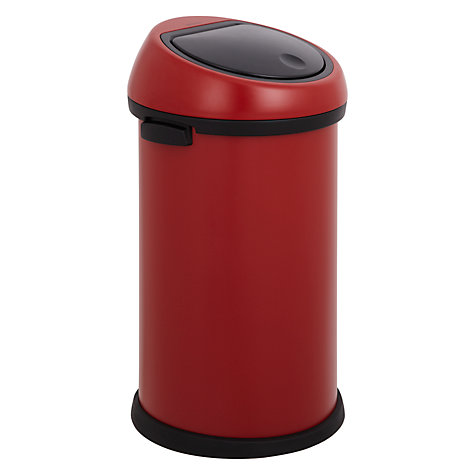 Buy Brabantia Touch Bin, Deep Red, 50L Online at johnlewis.com