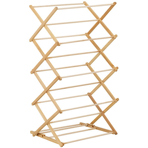 Buy John Lewis FSC Beech Wood Airer Online at johnlewis.com