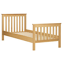 Buy John Lewis Lasko Single Bed Frame, Oak Online at johnlewis.com