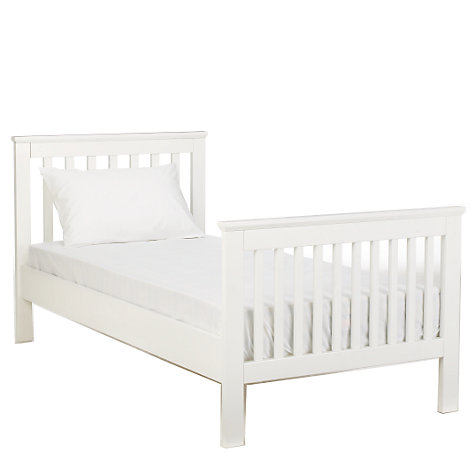 Buy John Lewis Lasko Single Bedstead, White Online at johnlewis.com