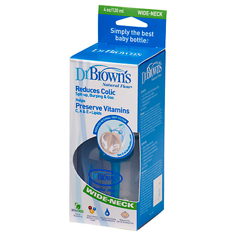 Buy Dr Brown's Natural Flow Polypropylene Bottle, 120ml Online at johnlewis.com