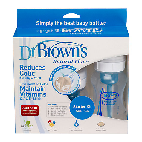 Buy Dr Brown's Natural Flow Polypropylene Starter Pack, Assorted Sizes Online at johnlewis.com