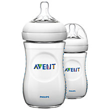 Buy Philips Avent Polypropylene Bottles, Pack of 2, 260ml Online at johnlewis.com