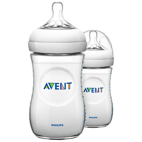 Buy Philips Avent Polypropylene Baby Bottles, Pack of 2, 260ml Online at johnlewis.com