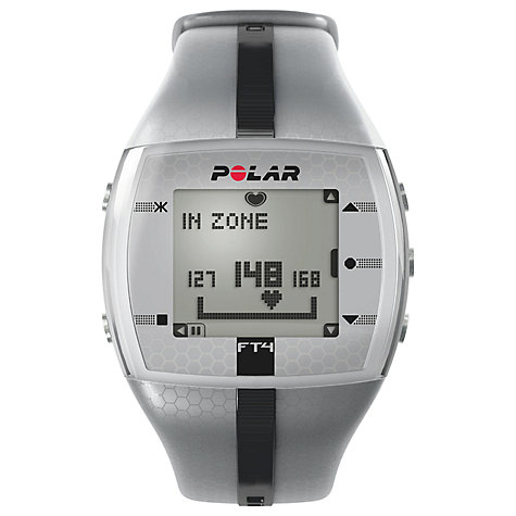 Buy Polar FT4M Men's Heart Rate Monitor, Silver Online at johnlewis.com