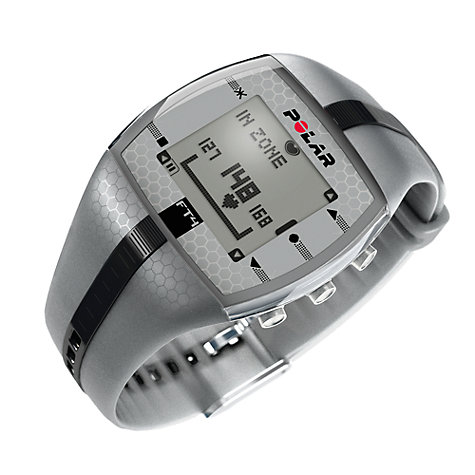 Buy Polar FT4M Heart Rate Monitor Sports Watch, Grey Online at johnlewis.com