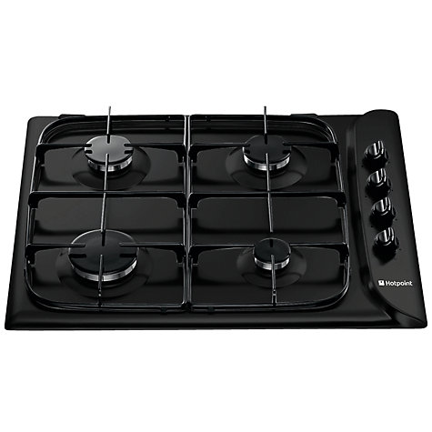 Buy Hotpoint G640SK Gas Hob, Black Online at johnlewis.com