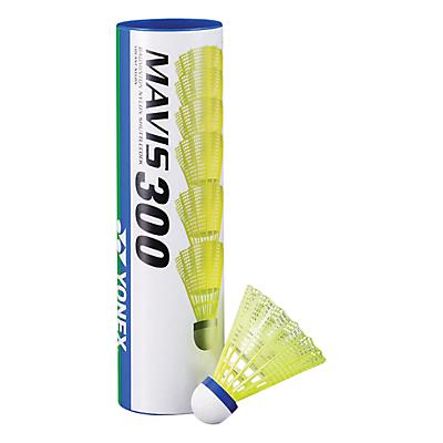Yonex Mavis 300 Shuttlecocks, Pack of 6, Yellow