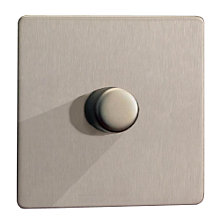 Buy Stirling 1 Gang 2 Way Rotary Dimmer Switch, Brushed Steel Online at johnlewis.com