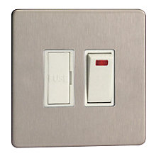 Buy John Lewis Stirling Fused Spur, Brushed Steel Online at johnlewis.com