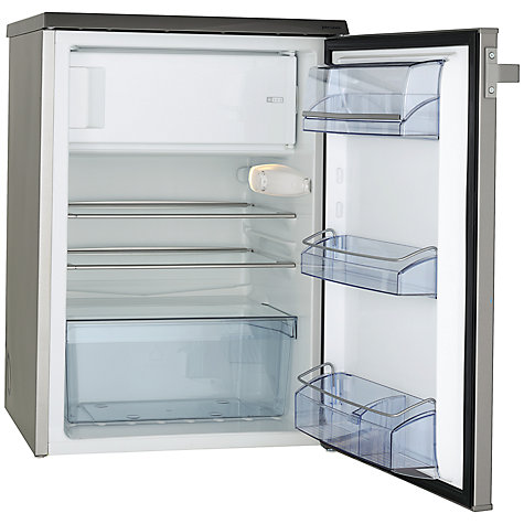 Buy John Lewis JLUCFRS6009 Fridge with Freezer Compartment, A+ Energy Rating, 60cm Wide, Silver Online at johnlewis.com