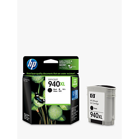 Buy HP 940XL Officejet Printer Cartridge, Black, C4906AE Online at johnlewis.com
