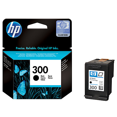 Buy HP 300 Inkjet Cartridge, Black, CC640EE Online at johnlewis.com
