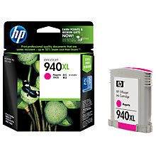 Buy HP 940XL Officejet Printer Cartridge, Magenta Online at johnlewis.com