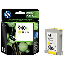 Buy HP 940XL Officejet Printer Cartridge, Yellow, C4909AE Online at johnlewis.com