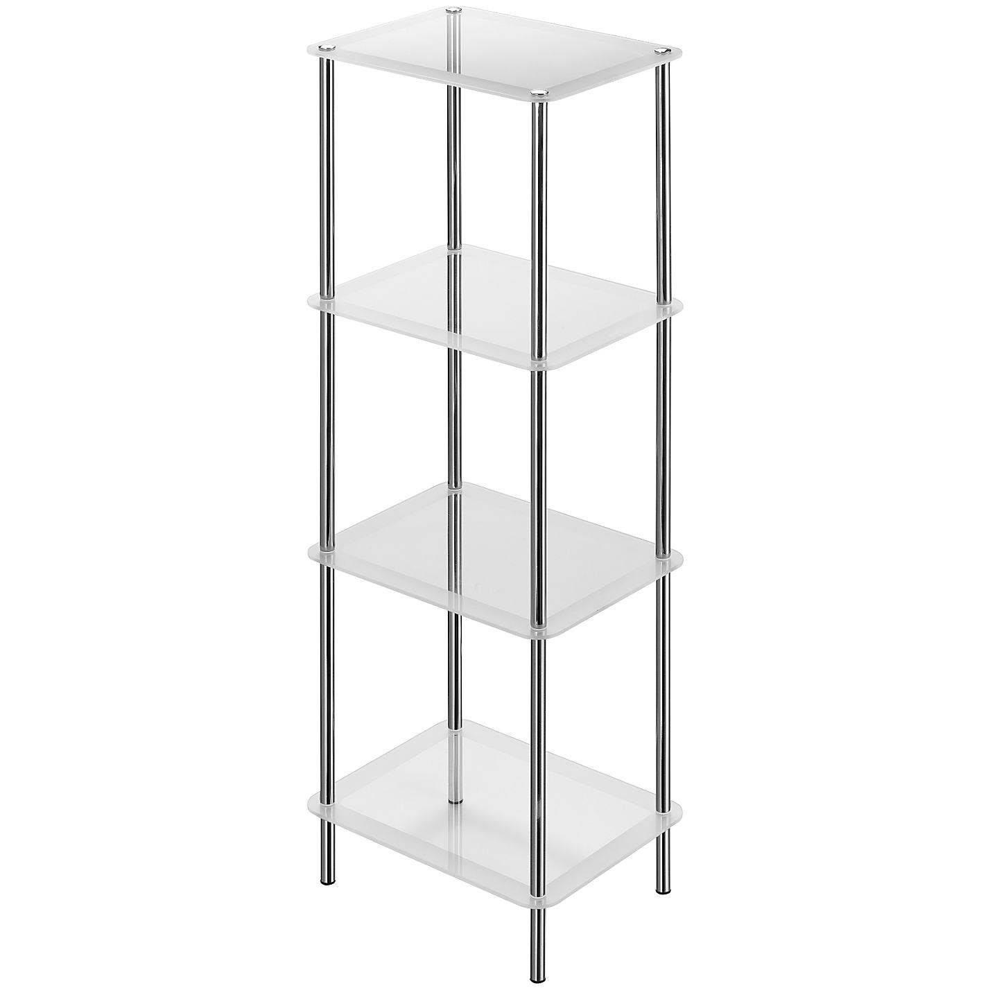 Chrome 4 Shelf Unit Shine 4 Tier Shelf Unit