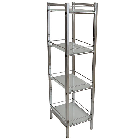 Buy john lewis ice 4 tier shelf unit john lewis for Bathroom storage ideas john lewis