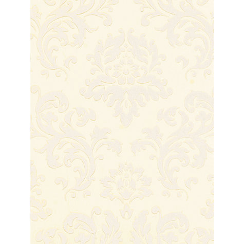 Buy John Lewis Damask Wallpaper, Oyster Online at johnlewis.com