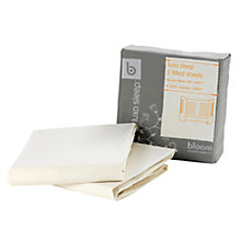 Buy Bloom Luxo Fitted Cot Sheet, Pack of 2, Natural Wheat Online at johnlewis.com