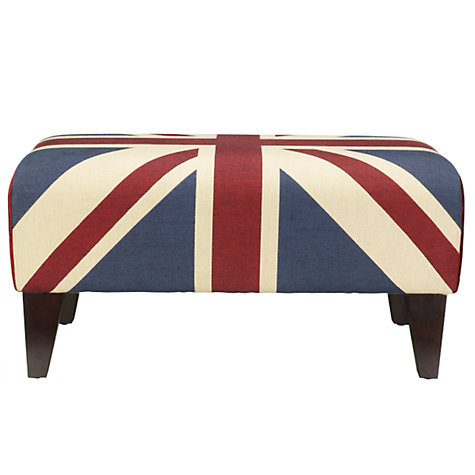 Buy John Lewis Union Jack Footstool, Blue Online at johnlewis.com