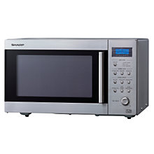 Buy Sharp R27STMA Microwave Oven, Stainless Steel Online at johnlewis.com