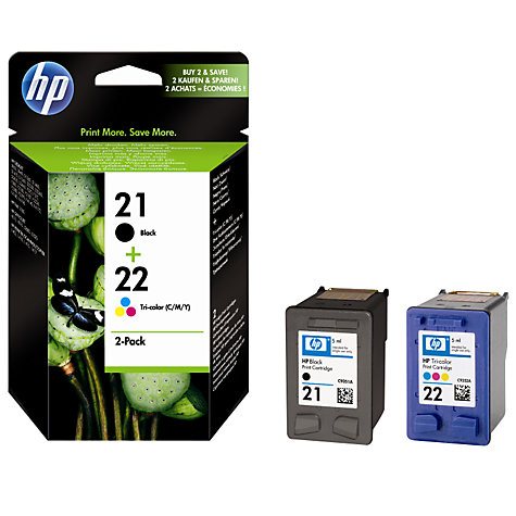 Buy HP 21 Black and 22 Colour Inkjet Cartridges Online at johnlewis.com