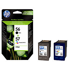 Buy HP 56 Black and 57 Colour Inkjet Cartridge, Pack of 2, C9321FN Online at johnlewis.com