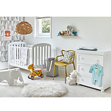 Buy John Lewis Rachel Nursery Furniture Set, White Online at johnlewis.com