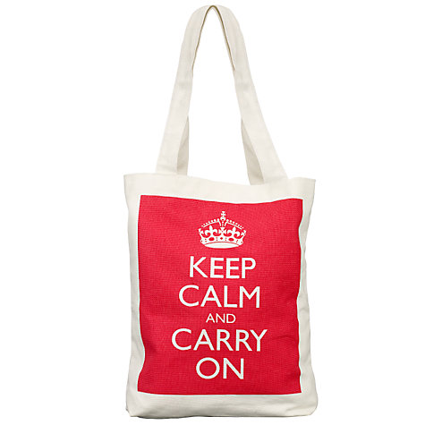Buy 'Keep Calm and Carry On' Canvas Shopper Online at johnlewis.com