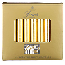 Buy Price's Gold Nova Candles, Pack of 8 Online at johnlewis.com