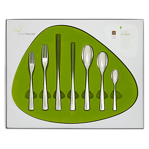 Buy Studio William Karri Stainless Steel Cutlery Set, 42 Pieces Online at johnlewis.com