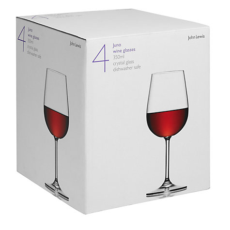 Buy John Lewis Juno Wine Glasses, 0.35L, Set of 4 Online at johnlewis.com