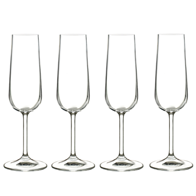 John Lewis Juno Champagne Flutes, 0.17L, Set of 4