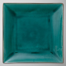 Buy John Lewis Oriental Teal Square Plate, 28cm Online at johnlewis.com