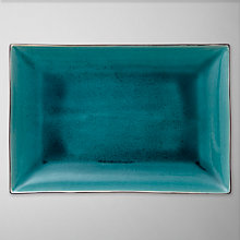 Buy John Lewis Oriental Teal Rectangular Plate, 30cm Online at johnlewis.com