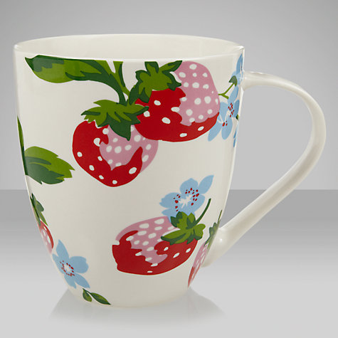 Buy Cath Kidston Fine China Mug, Strawberry Online at johnlewis.com