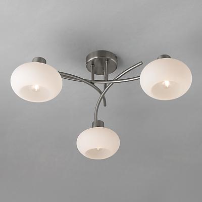 John Lewis Elio Ceiling Light, 3 Arm