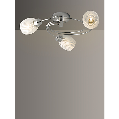 John Lewis Maya Ceiling Light, 3 Arm