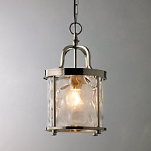Buy John Lewis Warwick Lantern, Nickel Online at johnlewis.com