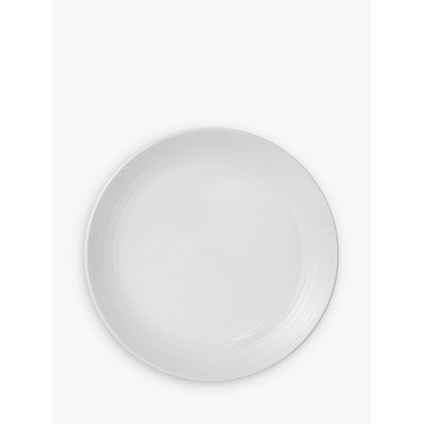 Buy John Lewis Croft Collection Luna Dinner Plate, White, Dia.27.5cm Online at johnlewis.com