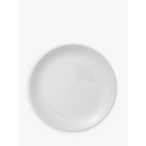 Buy John Lewis Croft Collection Luna Salad Plate, White, Dia.21.5cm Online at johnlewis.com