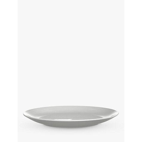 Buy John Lewis Luna Salad Plate, White, Dia.21.5cm Online at johnlewis.com