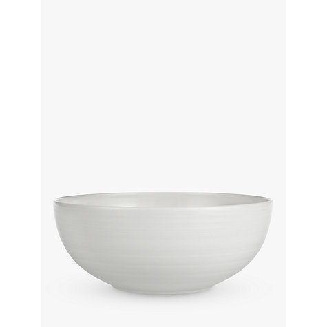 Buy John Lewis Croft Collection Luna Cereal Bowl, White Online at johnlewis.com