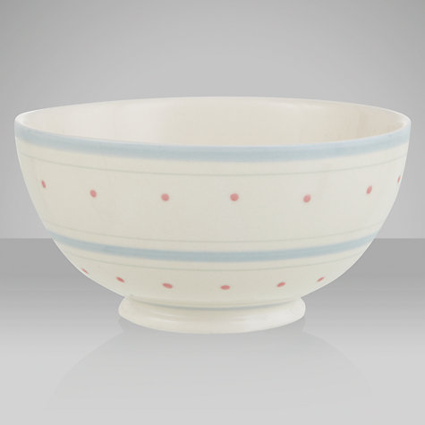 Buy John Lewis Polly's Pantry French Bowl, Spot & Stripe, Natural, Dia.15cm Online at johnlewis.com